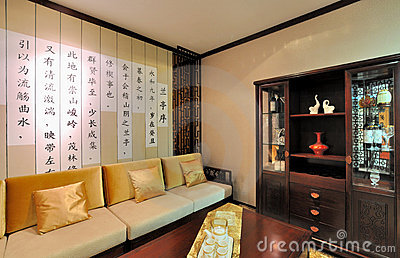 Living room in Chinese tradtional style