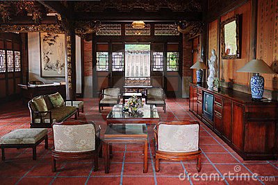 Living Room Of Classical Chinese House Royalty Free Stock