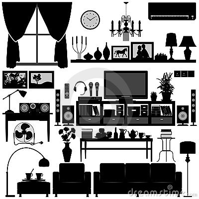 Free Living Room Furniture Home Interior Design Stock Images - 16681124