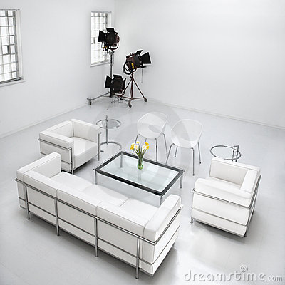 Free Living Room Furniture In Photography Studio Royalty Free Stock Photo - 12933025