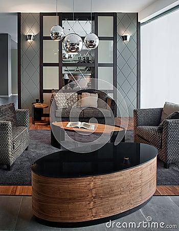 Living room interior design. Elegant and luxury.
