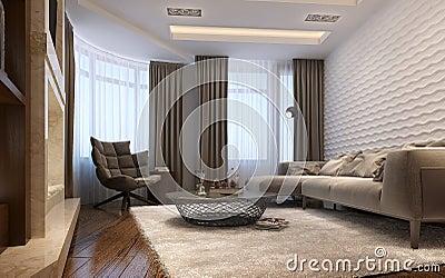 Living Room Techno Style Stock Illustration Image 59212408