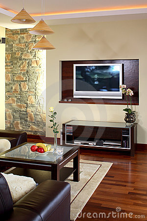Free Living Room Television Stock Photos - 4228073
