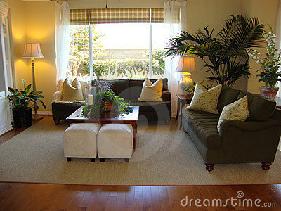 Living Room with Wood Floors