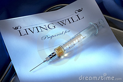 Living Will with with injectable lethal dose