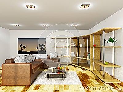 Livingroom with furniture