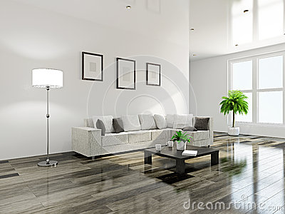 Livingroom with furniture