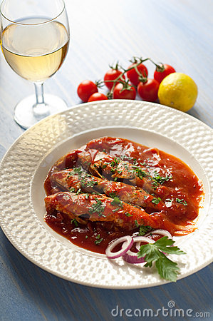 Livornese red mullets typical tuscany recipe