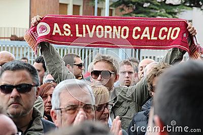 Livorno football commemoration Morosini Editorial Photo