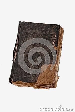 Livre antique sur le blanc