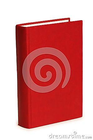 Livro vermelho isolado