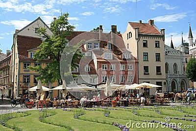 Livu Laukums square in Riga, Latvia