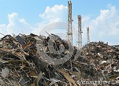 Lixo industrial do metal