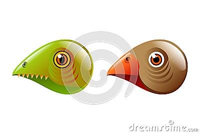 Lizadr bird heads