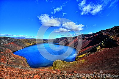 Ljotipollur lake in HDR, Iceland