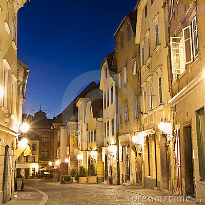 Ljubljana s medieval city cener