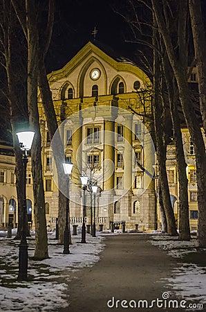 Ursuline church in Ljubljana Editorial Stock Photo