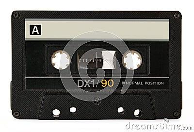 Ljudsignal svart kassett