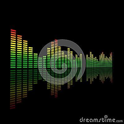 Ljudsignala 3d dual det förda level räkneverket