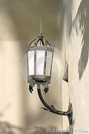 Ljus gammal vägg för lampa