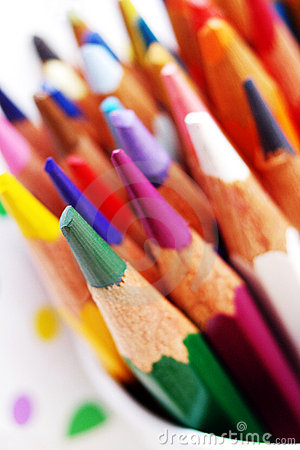 Ljusa färga palettblyertspennor för konst