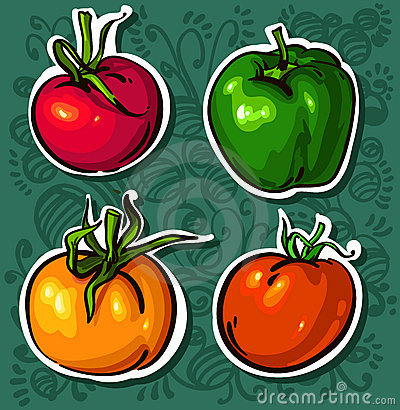 Ljusa smakliga tomatgrönsaker