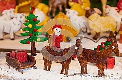 Ljust rödbrun brödplats för jul
