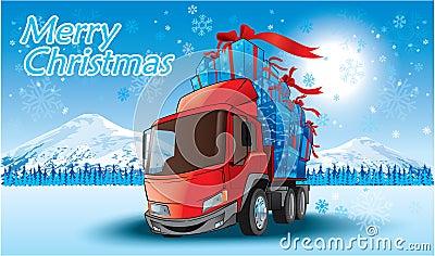 lkw der frohen weihnachten stockbilder bild 11981004. Black Bedroom Furniture Sets. Home Design Ideas