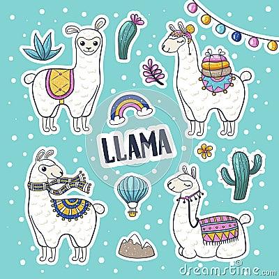 Free Llama Hand Drawn Stock Images - 122600834