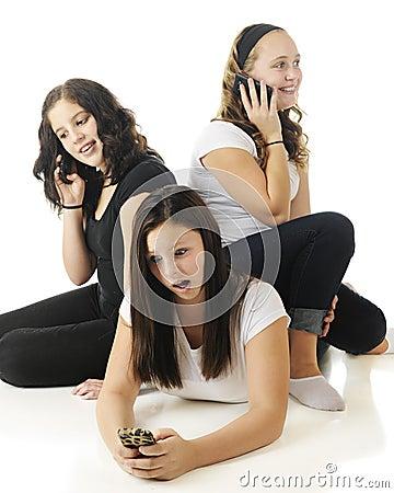 Llamada telefónica de adolescencias