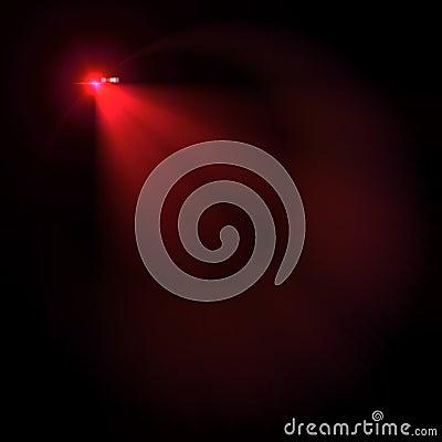 Llamarada de la lente del vector