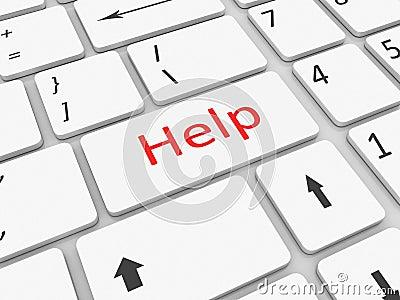 Llave de ayuda del teclado