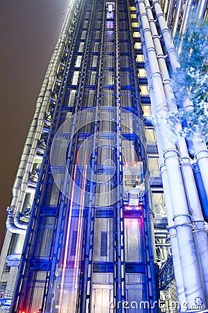 夜间视图,伦敦Lloyds