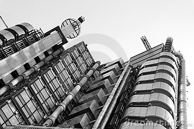 Lloyd's Building black & white