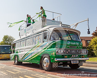 LloydsTSB Olympic Torch Bus Editorial Image