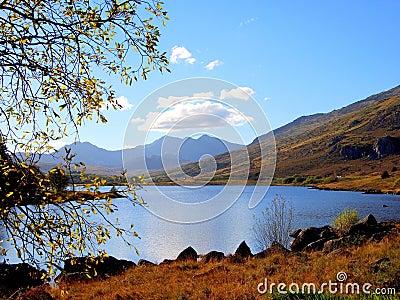 Llyn (lake) Mymbyr, Snowdonia, Wales