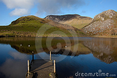 Llyn Y Dywarchen a fishing lake