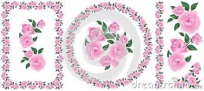 Élément d ornement de décor de roses