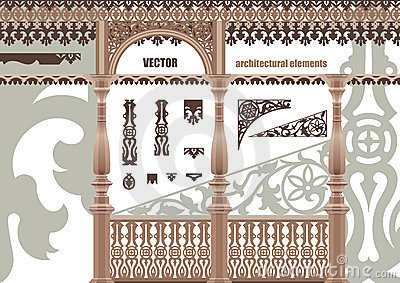 Éléments architecturaux découpés par vecteur