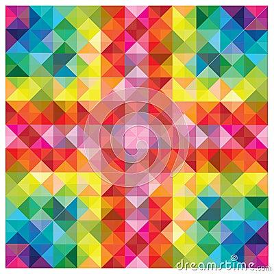 Éléments colorés modernes à la configuration abstraite