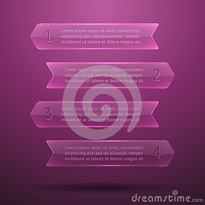 Éléments en verre d infographics