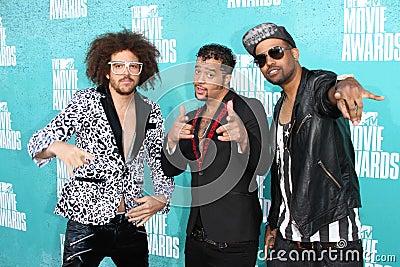 LMFAO at the 2012 MTV Movie Awards Arrivals, Gibson Amphitheater, Universal City, CA 06-03-12 Editorial Photo
