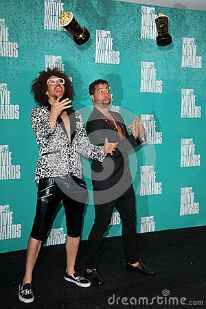LMFAO at the 2012 MTV Movie Awards Press Room, Gibson Amphitheater, Universal City, CA 06-03-12 Editorial Photo