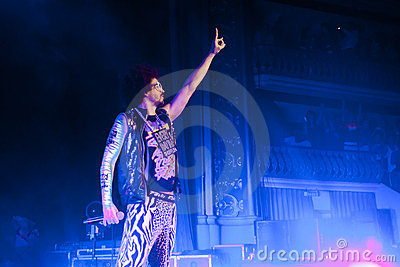 LMFAO Performing Live at Coliseu de Lisboa Editorial Photography
