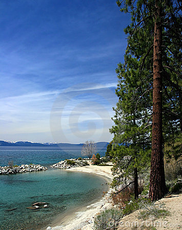 Línea de la playa de Tahoe