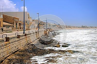 Línea de la playa siciliana