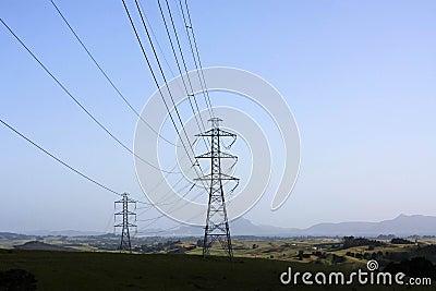 Líneas eléctricas en el coutryside