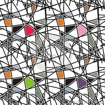 Líneas negras con el modelo geométrico