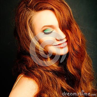 långt hår sexarbetare rött hår