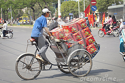 Loaded Trishaw, Ho Chi Minh City Editorial Image